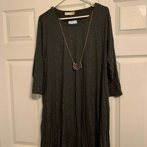 NWT Forever Rose Couture gray dress plus 3X